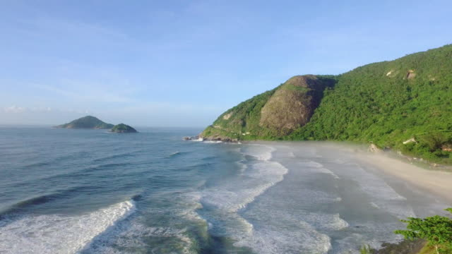 Panoramic view of a beautiful coast in the region of rio do janeiro in brazil in summer video