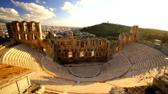 vídeos de stock, filmes e b-roll de vista panorâmico do acropolis de atenas, greece - atenas grécia