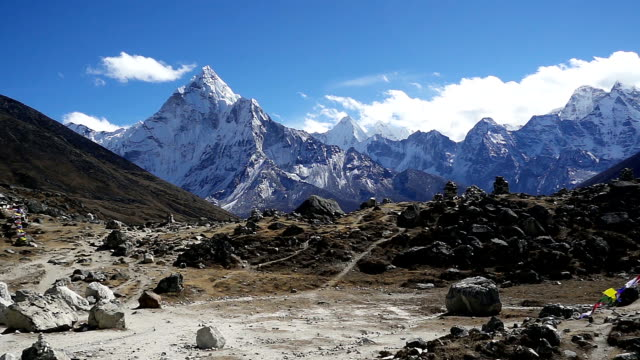 Panoramic view of Ama Dablam (6,170m) and Khumbu Valley video