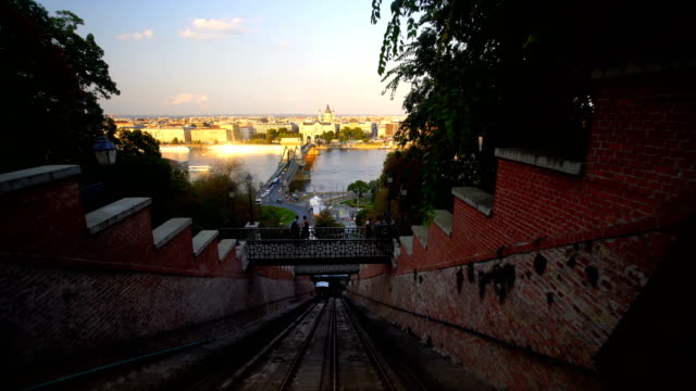 Panoramic view of Budapest city from Funicular, Hungary