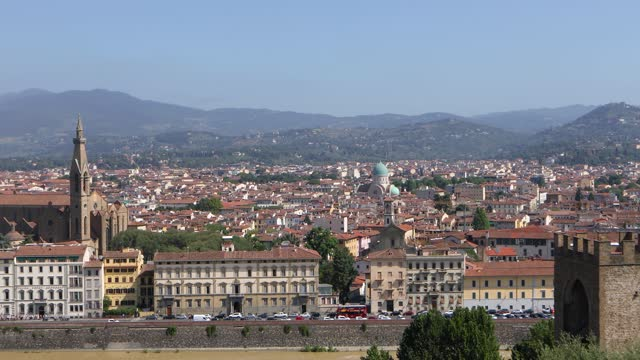 Panoramic view of Florence from the observation deck. Old italian city florence, panorama