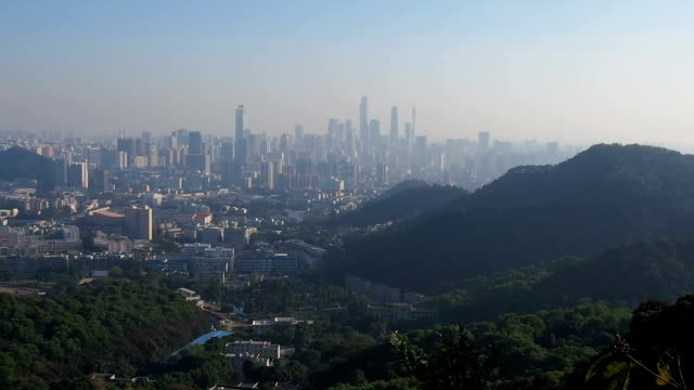 Panoramic view of Guangzhou, China video