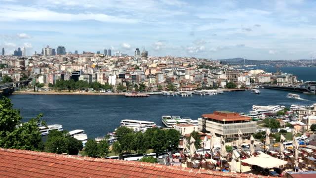 Istanbul 'un panoramik görünüm video