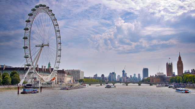 Panoramic view of London's skyline with The London Big Ben