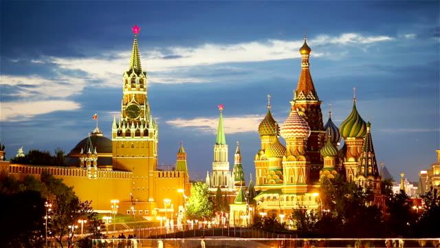 panoramautsikt över moskva landmärke under solnedgången från zaryadye park - kreml bildbanksvideor och videomaterial från bakom kulisserna