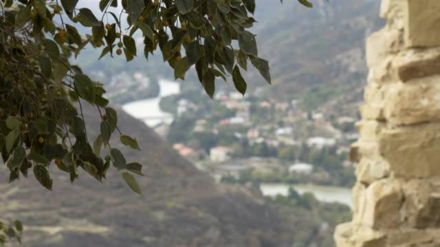 Panoramic view of Mtskheta, Georgia. video