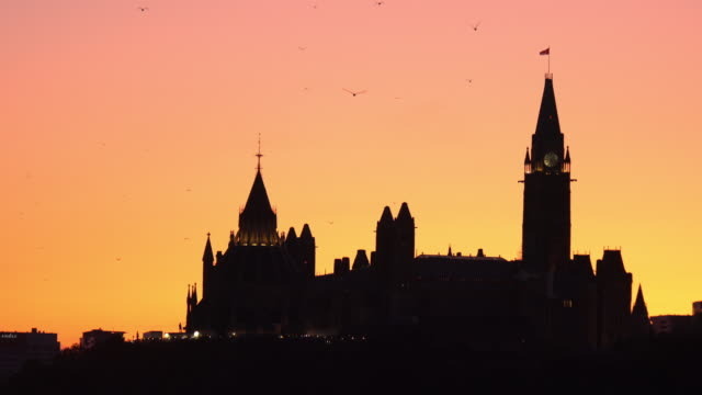 Panoramic View of Ottawa River and Parliament of Canada