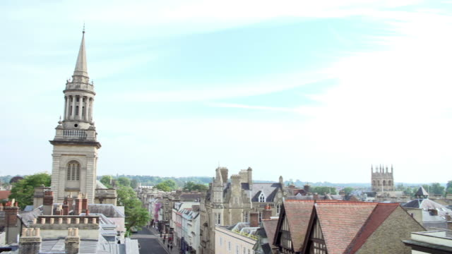 Panoramic View Of Oxford City Skyline And Rooftops video