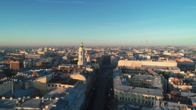 Panoramic view of Saint Petersburg Panoramic view of Saint Petersburg treedeo saint petersburg stock videos & royalty-free footage
