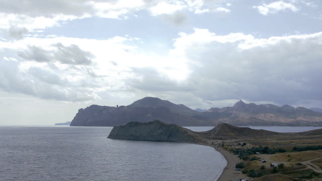 panoramic view of sea bays, capes and beaches video
