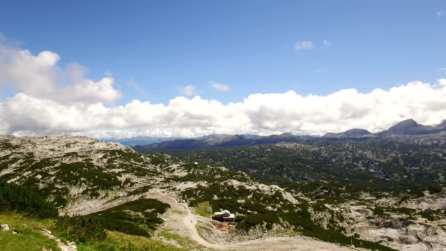 panoramic view of the Alps mountains video