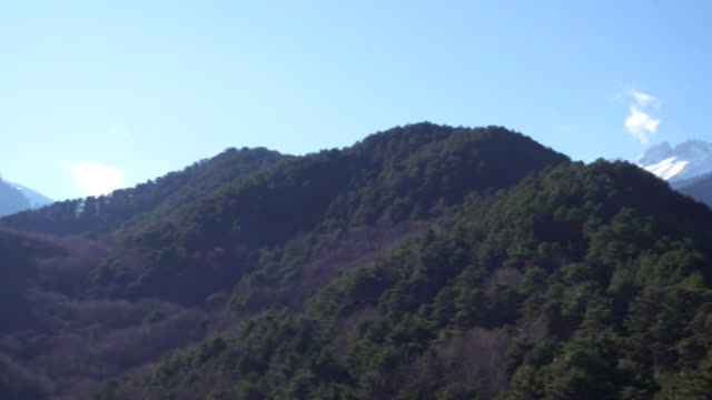 Panoramic view of the mountain range