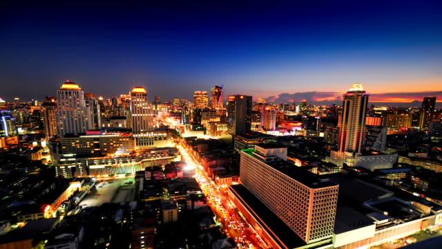 Panoramic view of urban landscape in Bangkok Thailand video
