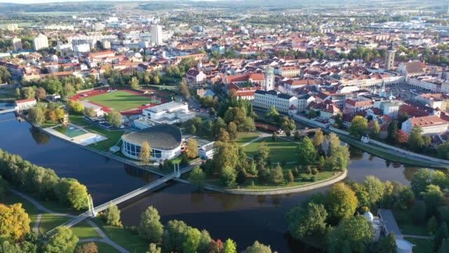 panoramic view on the city ceske budejovice - polityka i rząd filmów i materiałów b-roll