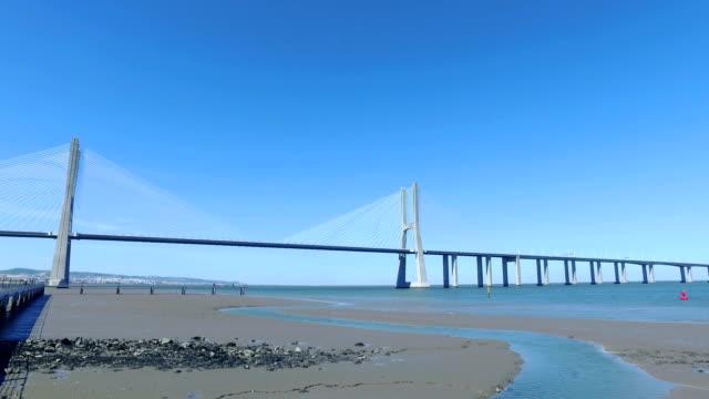 Panoramic View Vasco da Gama Bridge video