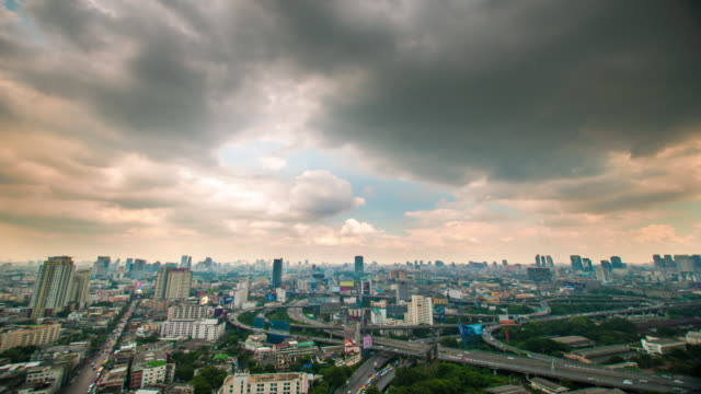 4K : Panoraminc view of bangkok video