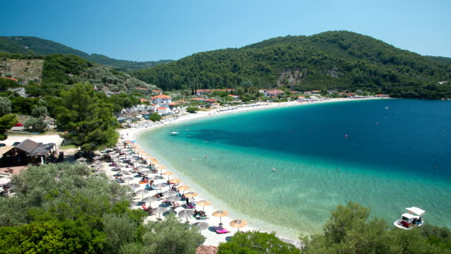 Panormos beach, Skopelos island, Greece video