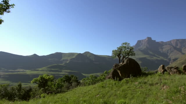 Panshot in the Drakensberg mountains Panshot in the Drakensberg mountainswith Amphitheater in the background natal stock videos & royalty-free footage