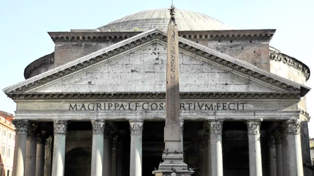 pantheon church, rome, italy, real time - papa video stock e b–roll