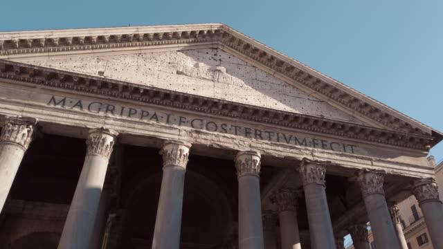 pantheon, rome, italy - stile classico romano video stock e b–roll