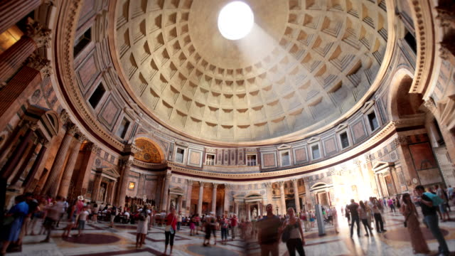 pantheon, rome, italy - italian architecture stock videos & royalty-free footage