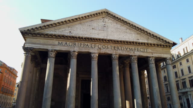 Pantheon Rome Pantheon in Rome architectural column stock videos & royalty-free footage