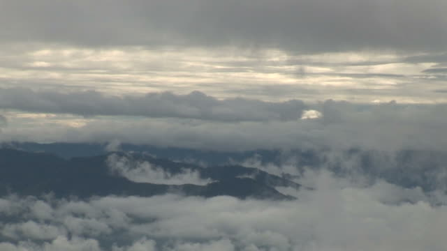 Papa New Guinea misty mountains and forest video