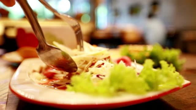 Salade de papaye (Som-Tum), Slow motion - Vidéo