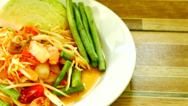 Papaya-Salat, Thai-Küche – Video