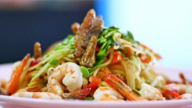 Papaya Salad (Som Tam) Top street food of thailand