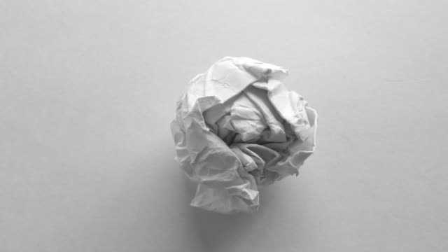 Paper ball animated and rotating
