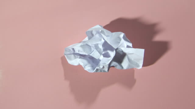 paper ball unwrapping HD video