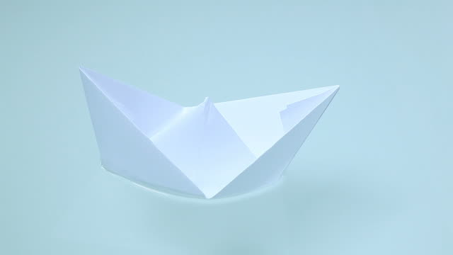 paper boat on the water video