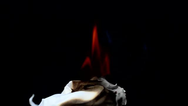 Paper burns video