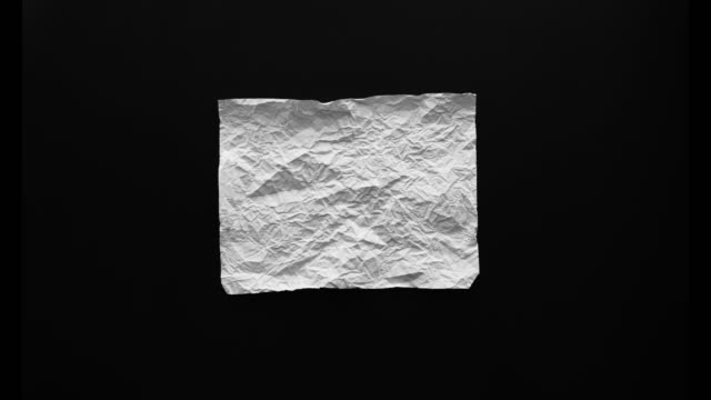 Paper crumple stop motion. video