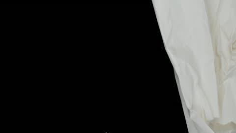 vídeos y material grabado en eventos de stock de papel crumples para efectos-con mate - papel