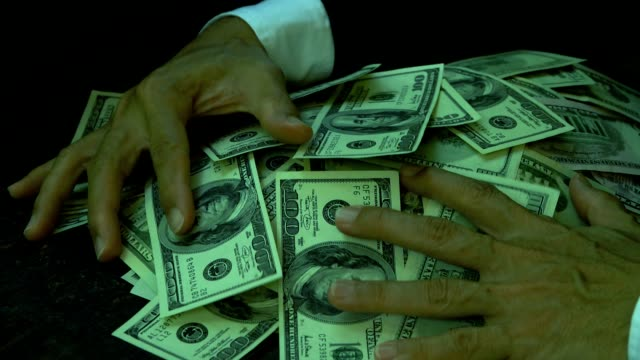 vídeos de stock e filmes b-roll de us paper currency,business concept. - corruption