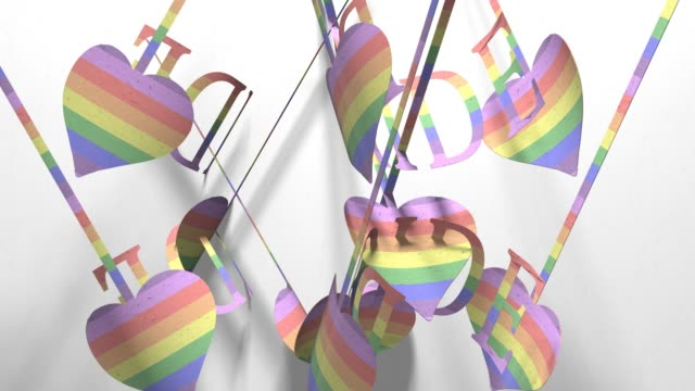 vídeos de stock, filmes e b-roll de título de recorte de papel gay orgulho lgbt comunidade mardi gras 3d render - cisgênero