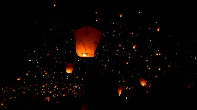 Paper Lanterns Light Festival 4k