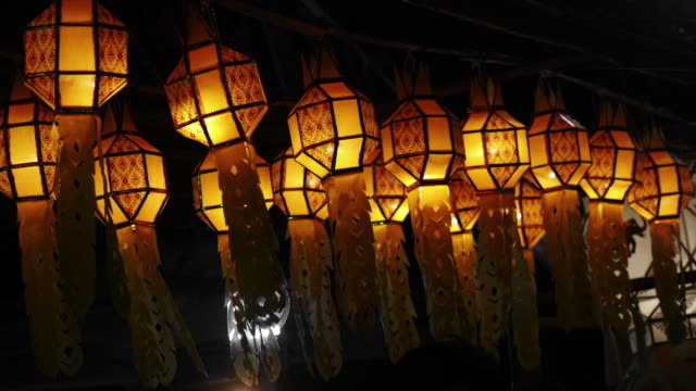papier lampionów - chinese new year filmów i materiałów b-roll