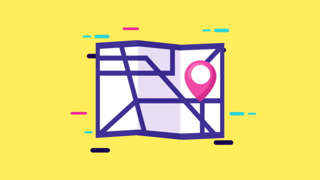paper map with pin location