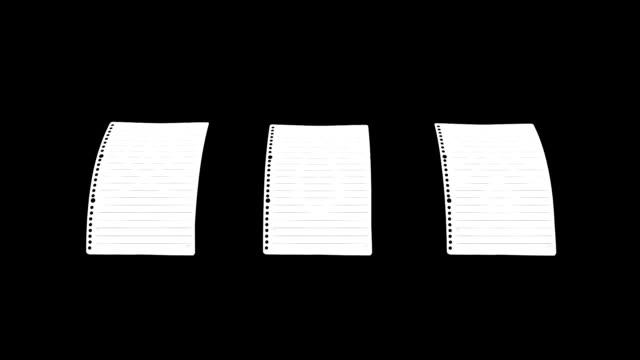 papier noten streckt - verbogen stock-videos und b-roll-filmmaterial