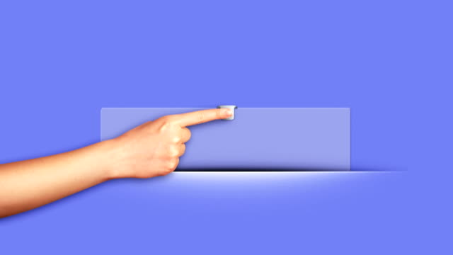 Paper Open with Finger Click video