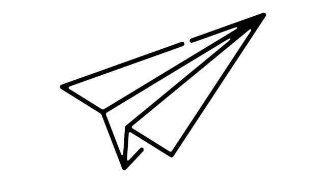 Paper Plane Line Motion Graphic Paper plane line icon motion graphic animation with alpha channel. office illustrations videos stock videos & royalty-free footage