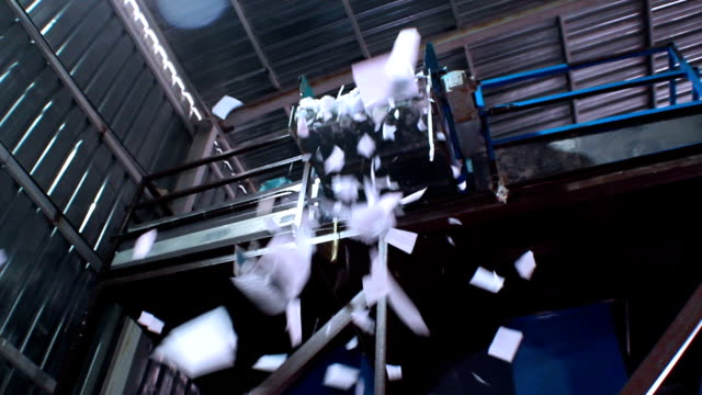 Paper Recyling Falling video