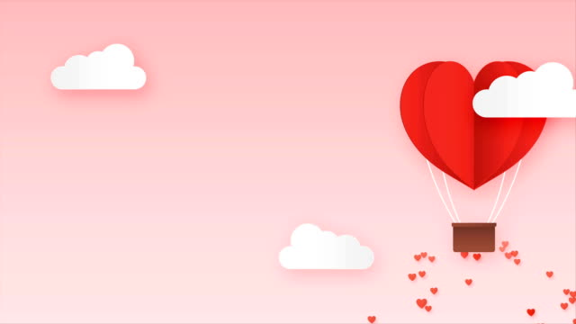 Paper Style love of valentine day looping with alpha , balloon flying over cloud with heart float on the sky, couple honeymoon with copy space , Animation Full HD 1920x1080 Paper Style love of valentine day looping with alpha , balloon flying over cloud with heart float on the sky, couple honeymoon with copy space , Animation Full HD 1920x1080 valentines day stock videos & royalty-free footage