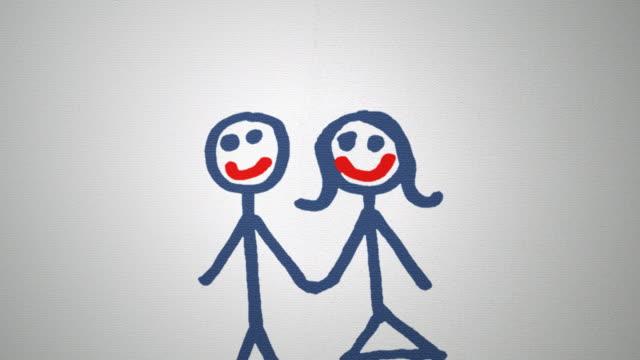 paper tear divorce top animation video