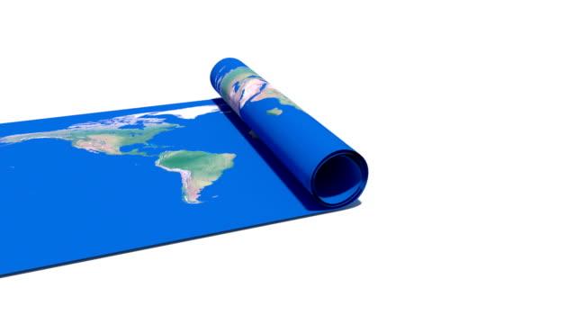 Paper World Map video