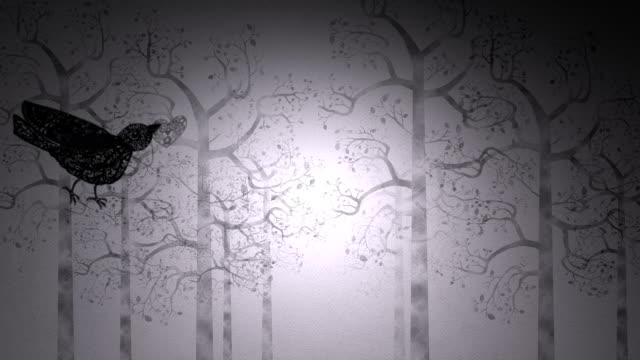 Paper-cut love birds video