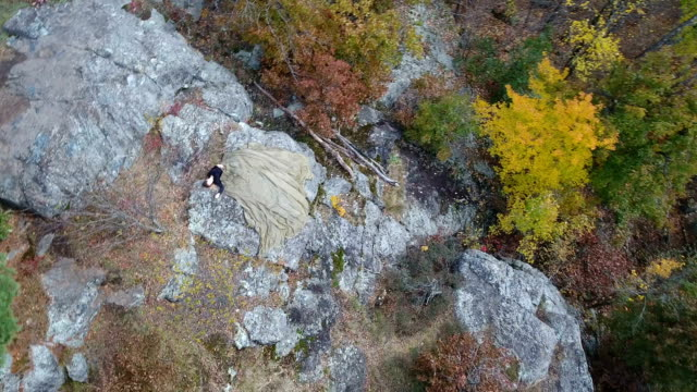 Parachute crash victim on a mountain video